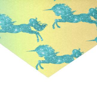 Aqua Glitter Unicorn Tissue Paper