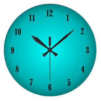 Aqua Glow Large Clock