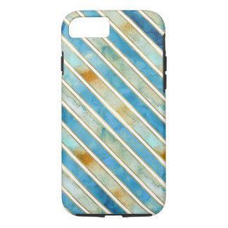 Aqua Gold Bliss Stripes iPhone 8/7 Case