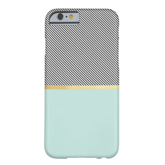 Aqua, Gold & Stripes Barely There iPhone 6