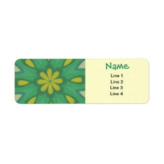 Aqua Green Mandala Labels