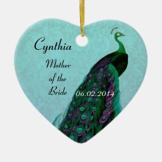 Aqua Green Mother of the Bride Wedding Thank You Ceramic Heart Decoration
