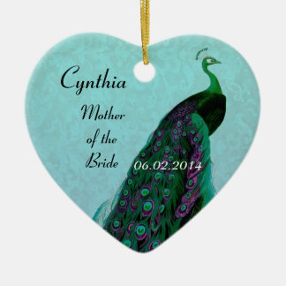 Aqua Green Mother of the Bride Wedding Thank You Christmas Ornament