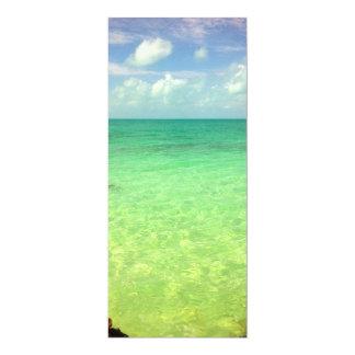 Aqua Green Ocean   Turks and Caicos Photo 10 Cm X 24 Cm Invitation Card