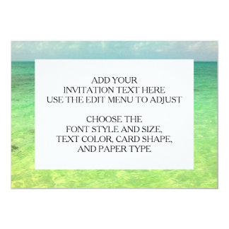 Aqua Green Ocean   Turks and Caicos Photo 13 Cm X 18 Cm Invitation Card
