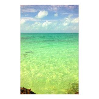 Aqua Green Ocean | Turks and Caicos Photo 14 Cm X 21.5 Cm Flyer
