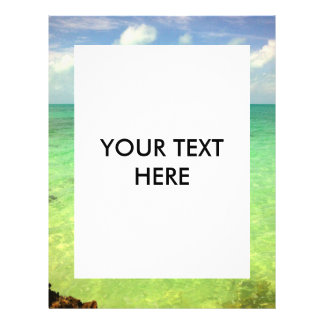 Aqua Green Ocean | Turks and Caicos Photo 21.5 Cm X 28 Cm Flyer