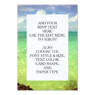 Aqua Green Ocean   Turks and Caicos Photo 9 Cm X 13 Cm Invitation Card