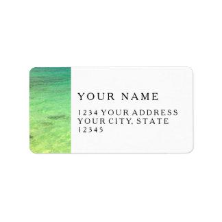 Aqua Green Ocean | Turks and Caicos Photo Address Label