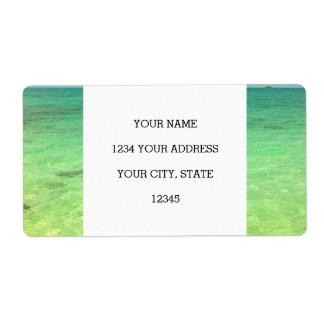 Aqua Green Ocean | Turks and Caicos Photo Shipping Label
