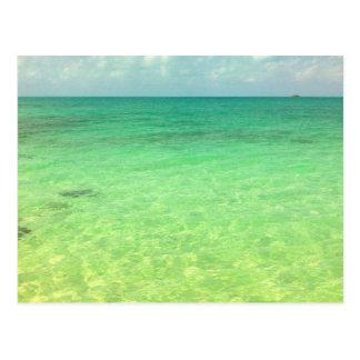 Aqua Green Ocean   Turks and Caicos Photo Postcard