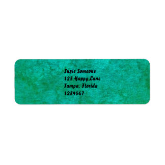 aqua green return address labels