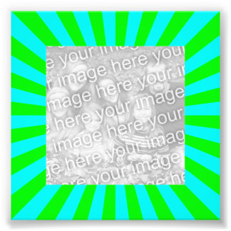 Aqua Green Starburst Frame Photo