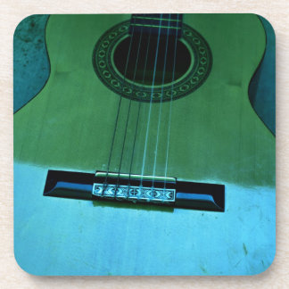 Aqua Guitar Drink Coasters