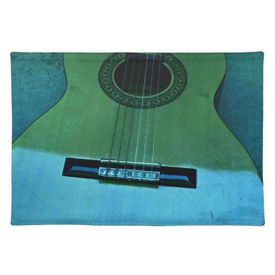 Aqua Guitar Placemat