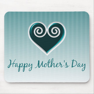 Aqua Heart Mother's Day Mousepad