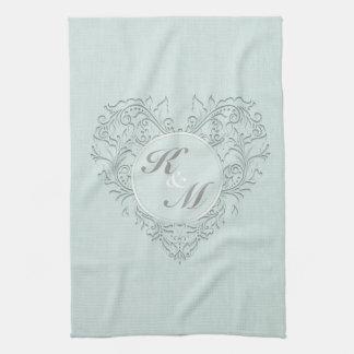 Aqua HeartyChic Tea Towels