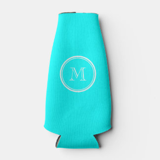 Aqua High End Colored Personalized Bottle Cooler