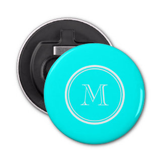 Aqua High End Colored Personalized Bottle Opener