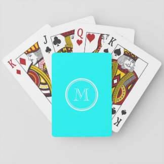 Aqua High End Colored Personalized Playing Cards
