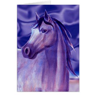 Aqua Horse Note Card