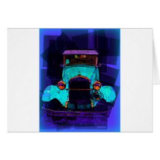 Aqua Hot Rod Classic Car Greeting Card
