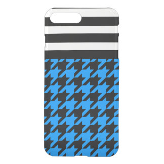 Aqua Houndstooth w/ Stripes 2 iPhone 7 Plus Case