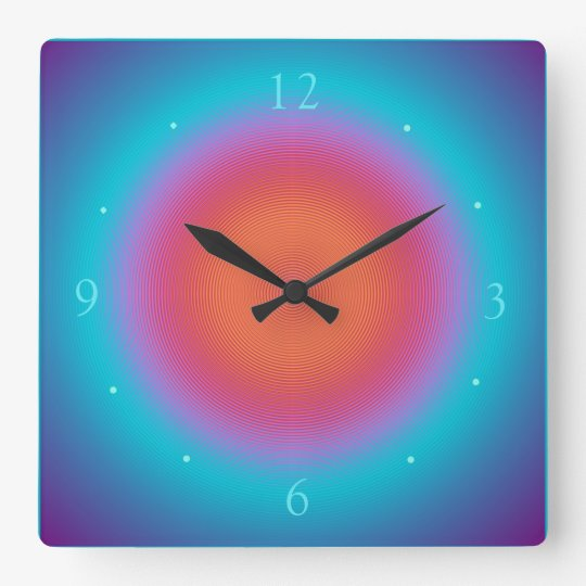 Aqua Illuminated Orange Pink Design > Wall Clocks