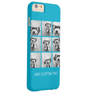 Aqua Instagram Photo Collage with 9 square photos Barely There iPhone 6 Plus Case