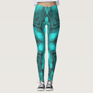 Aqua Kaleidoscope Leggings