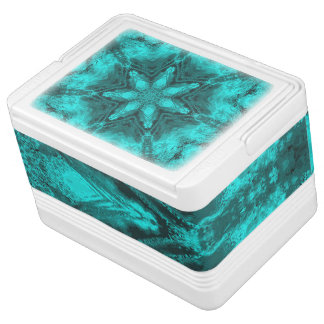 Aqua Kaleidoscope Star Igloo 12 Can Cooler Igloo Cool Box