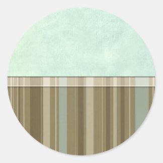 Aqua Khaki Stripe Sticker