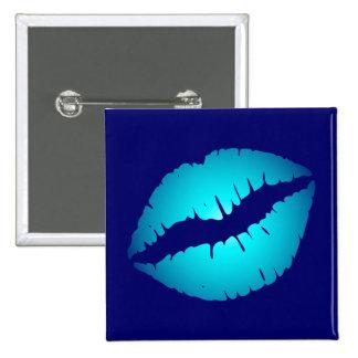 Aqua Kiss 15 Cm Square Badge