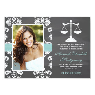 AQUA LAW SCHOOL CHALKBOARD GRADUATION ANNOUNCEMENT