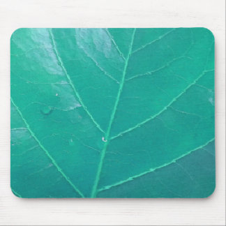 Aqua Leaf Mouse Mat