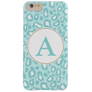 Aqua Leopard Monogram iPhone 6 Plus Case