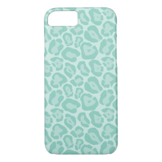 Aqua Leopard Print iPhone 7 Case