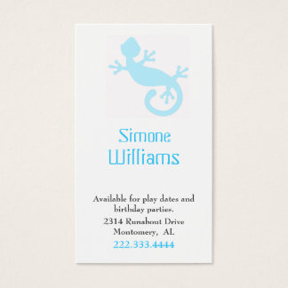 Aqua Lizard Children Calling Card