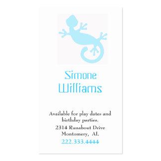 Aqua Lizard Children Calling Card Pack Of Standard Business Cards