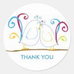 Aqua Love Bird Stickers - Personalise them!