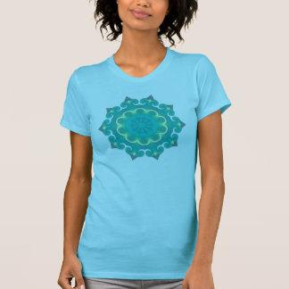 Aqua Mandala | Boho Retro 70s Vintage Look T-Shirt