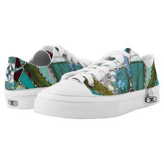 Aqua Mandala Shoes Printed Shoes