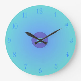 Aqua/mauve > Plain Kitchen Clocks