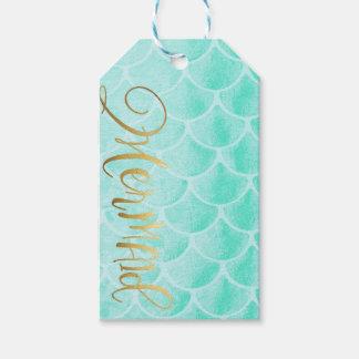 Aqua Mermaid Scales | Custom Text