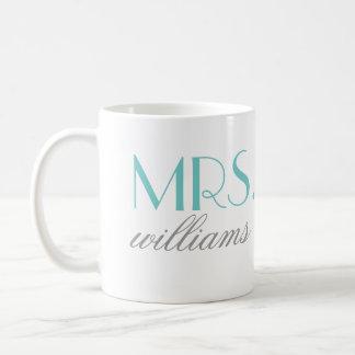 Aqua Mrs. Coffee Mug | Bride-to-Be Gift