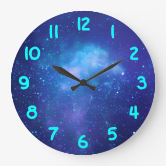 Aqua Numbers Galactic Center Large Clock