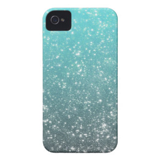Aqua Ombre Glitter Case-Mate iPhone 4 Cases