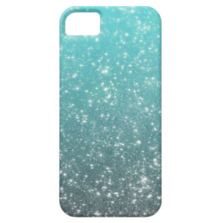 Aqua Ombre Glitter iPhone 5 Cover