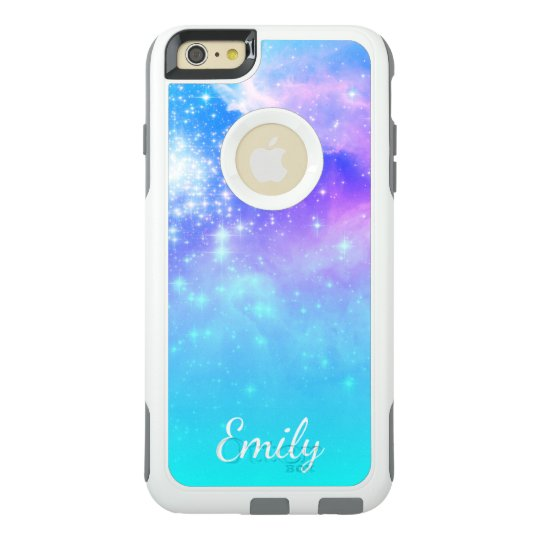 Aqua Ombre Space Photo Personalised OtterBox iPhone 6/6s