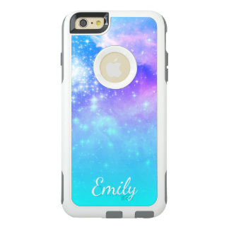 Aqua Ombre Space Photo Personalized OtterBox iPhone 6/6s Plus Case